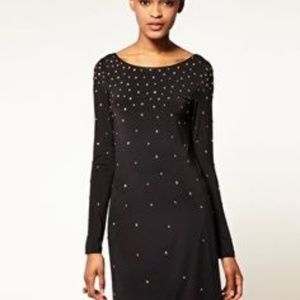 Halston Heritage low back black dress size 4